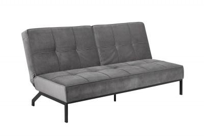 Dizajnová rozkladacia sedačka Amadeo, 198 cm, tmavosivá