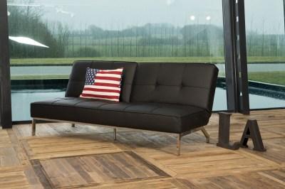 Dizajnová rozkladacia sedačka Amadeo, 198 cm, čierna