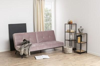 Dizajnová rozkladacia sedačka Amadeo, 198 cm, ružová