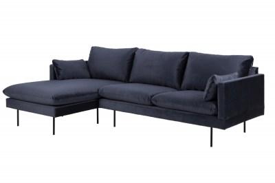 Dizajnová sedacia súprava Nanjala 242 cm ľavá, tmavo modrá