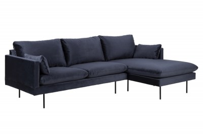 Dizajnová sedacia súprava Nanjala 242 cm pravá, tmavo modrá