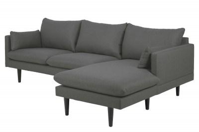 Dizajnová sedacia súprava Nanjala 242 cm pravá, tmavo šedá