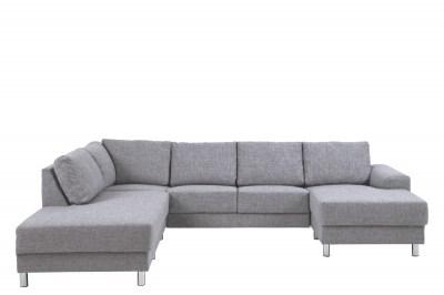 Dizajnová sedacia súprava Nim svetlošedá 286 cm L