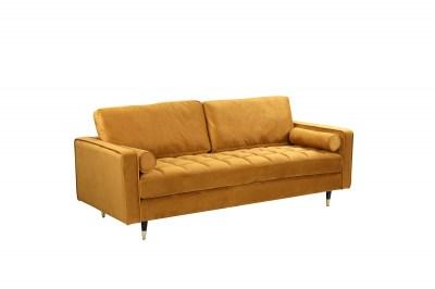 Dizajnová sedačka Adan 225 cm horčicovo-žltý zamat