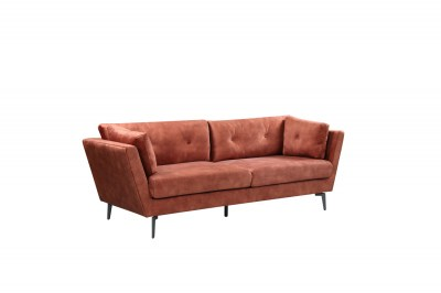 Dizajnová sedačka Billy 220 cm hrdzavohnedý zamat