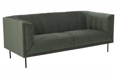 Dizajnová 3-miestna sedačka Darcila 201 cm sivo-zelená