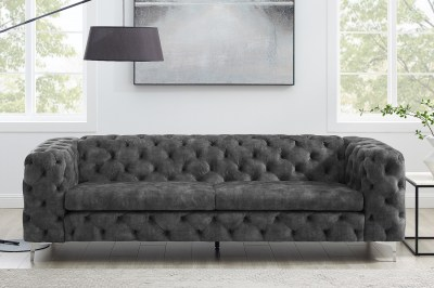 Dizajnová sedačka Rococo 240 cm tmavosivá