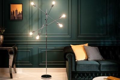 Dizajnová stojanová lampa Walter strieborná