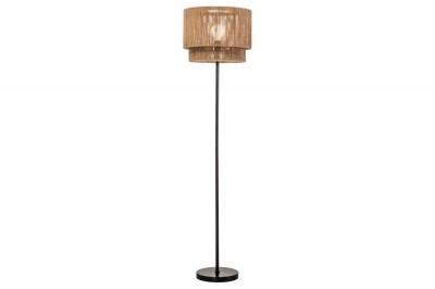Dizajnová stojanová lampa Desmond 150 cm papierový ratan