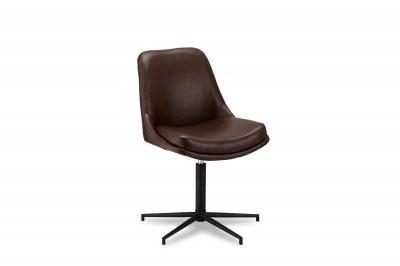 Dizajnová stolička Aeneas, tmavohnedá