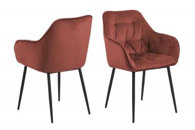 Dizajnová stolička Alarik, koralová