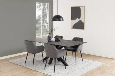 Dizajnová stolička Alarik, tmavosivá