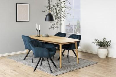 Dizajnová stolička Aletris, tmavomodrá