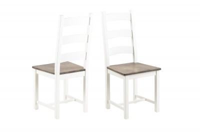 Dizajnová stolička Alexio, biela / hnedá