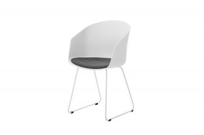 Dizajnová stolička Almanzo, biela / sivá
