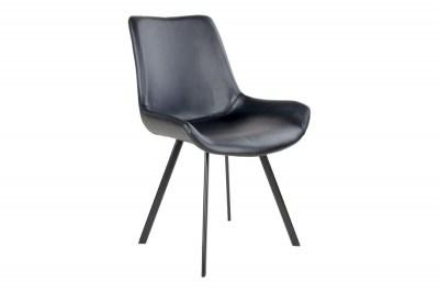 Dizajnová stolička Brinley čierna koženka
