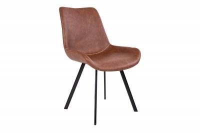 Dizajnová stolička Brinley hnedá koženka