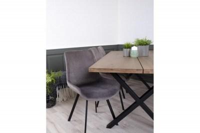 Dizajnová stolička Brinley sivý zamat