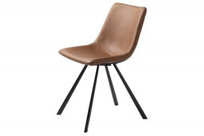 Dizajnová stolička Claudia svetlohnedá