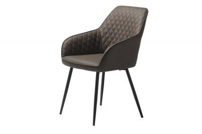 Dizajnová stolička Dana tmavohnedá koženka