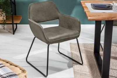 Dizajnová stolička Derrick 77 cm antik sivá
