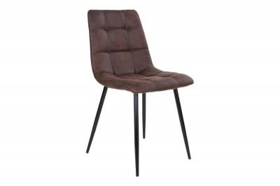 Dizajnová stolička Dominik tmavohnedá
