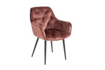 Dizajnová stolička Garold hnedý zamat