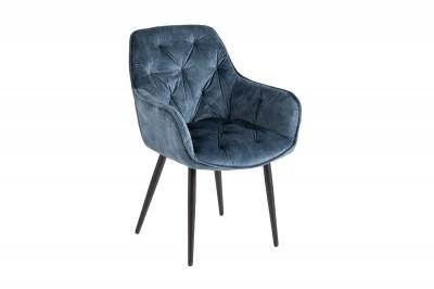 Dizajnová stolička Garold petrolejový zamat