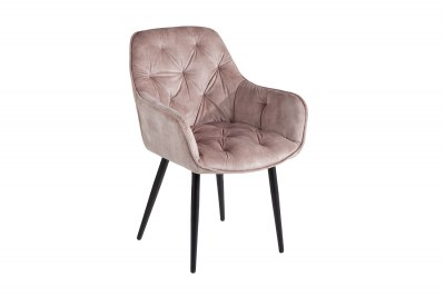 Dizajnová stolička Garold šampanský zamat