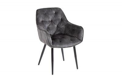 Dizajnová stolička Garold sivo-zelený zamat