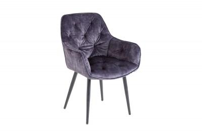Dizajnová stolička Garold sivý zamat
