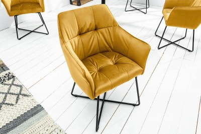 Dizajnová stolička Giuliana horčicová