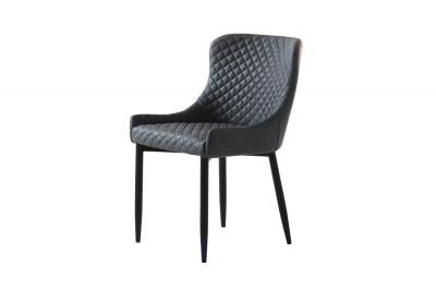 Dizajnová stolička Hallie sivá koženka