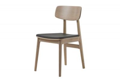 Dizajnová stolička Harper prírodná - čierna