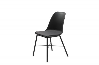 Dizajnová stolička Jeffery čierna