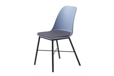 Dizajnová stolička Jeffery matná modrá