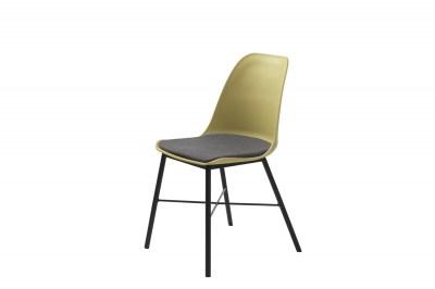 Dizajnová stolička Jeffery matná žltá