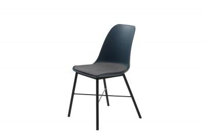 Dizajnová stolička Jeffery tmavomodrá