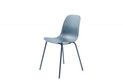 Dizajnová stolička Jensen matná modrá