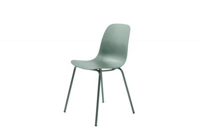 Dizajnová stolička Jensen matná zelená