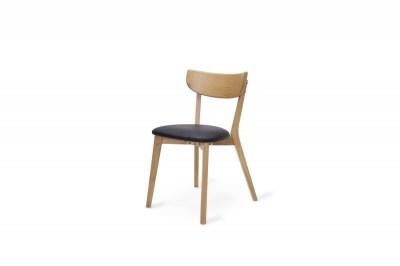 Dizajnová stolička Kian prírodná - čierna