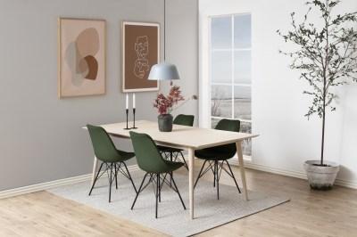Dizajnová stolička Nasia, lesno zelená
