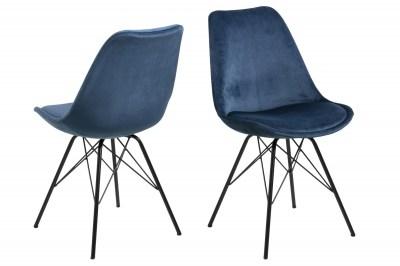 Dizajnová stolička Nasia, navy modrá
