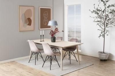 Dizajnová stolička Nasia, svetlo ružová