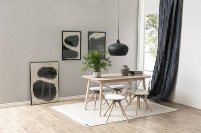 Dizajnová stolička Nera, priesvitná-biela