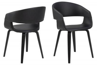 Dizajnová stolička Nere, čierna-breza