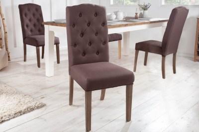 Dizajnová stolička Queen hnedá