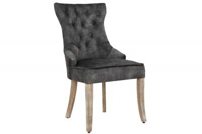 Dizajnová stolička Queen zamat sivo-zelená