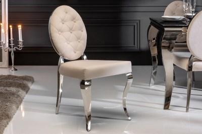 Dizajnová stolička Rococo II béžová
