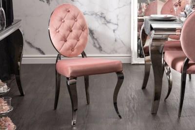 Dizajnová stolička Rococo II ružová